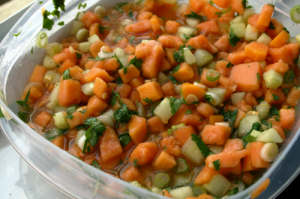 Papaya, Cucumber, and Ginger Salsa