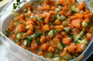 Papaya, Cucumber, and Ginger Salsa